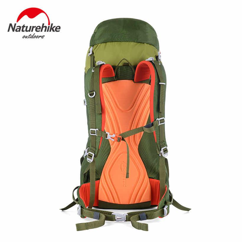 Tecidos de Nylon escalada mochila 45L ao ar livre Saco de viagem de Alumínio Barra de Suporte Interno Quadro Unisex Mochila para Viagens Durante A Noite