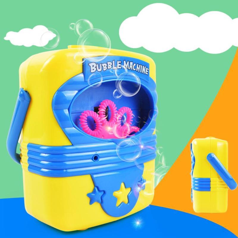 Automatic Bubbles Blower Maker Bubble Fluid Summer Outdoor Toy Kids Hand-held Electric  Handy Bubble Machine Toys Soap Blow