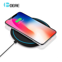 DCAE Wireless Charger 10W Quick Qi Wireless Charger Fast Charging Pad For IPhone X 8 8