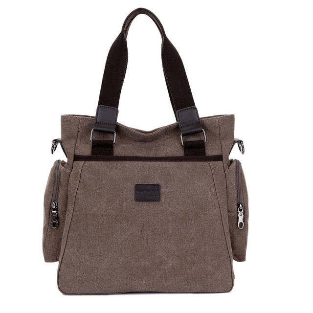 2018 New Hot Handbags Casual Style Men S Canvas Shoulder Bags With Strap Office Bag Messenger