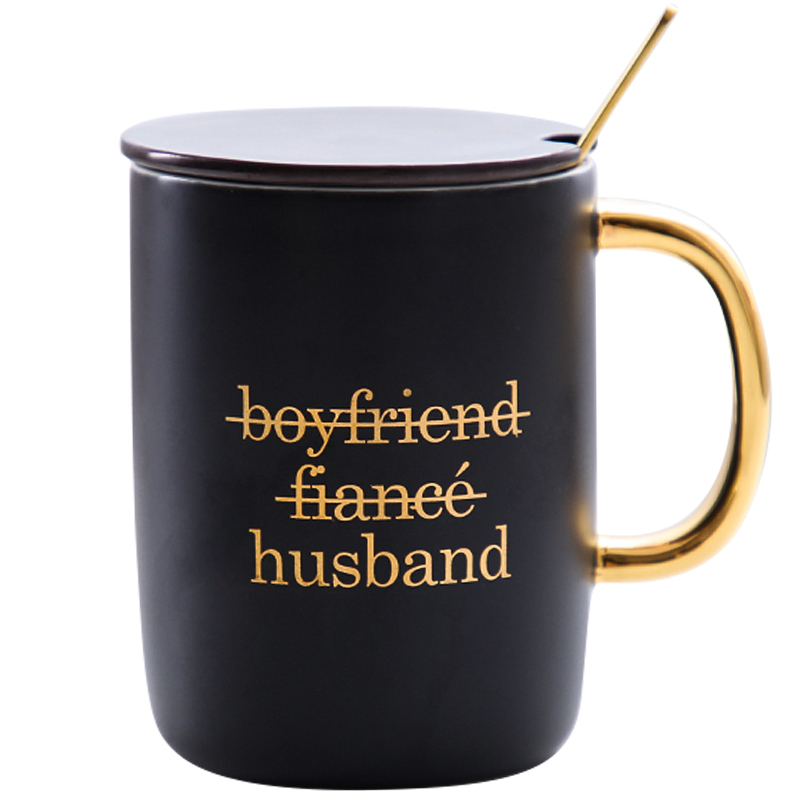Gift for boyfriend girlfriend  Tea Cup with Spoon Party favor Anniversary gift for husband wife Valentines day present gift for boyfriend on anniversary