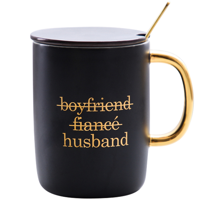 Gift for boyfriend girlfriend  Tea Cup with Spoon Party favor Anniversary gift for husband wife Valentines day present