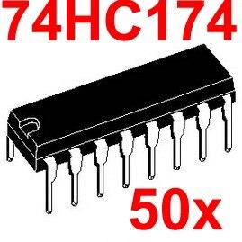 ( 50 pcs/lot ) 74HC174 Logic IC, DIP Package, CMOS.