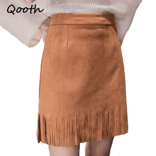 High Waist Suede Skirts