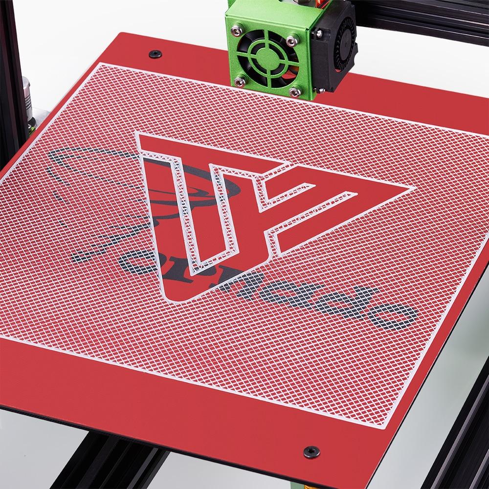 3D Imprimante Accessoire TEVO Tornade Chauffage Lit Autocollant 370*310mm PC Film Rouge/Vert Couleur Chaude Plaque autocollant 3D Imprimante Pièces