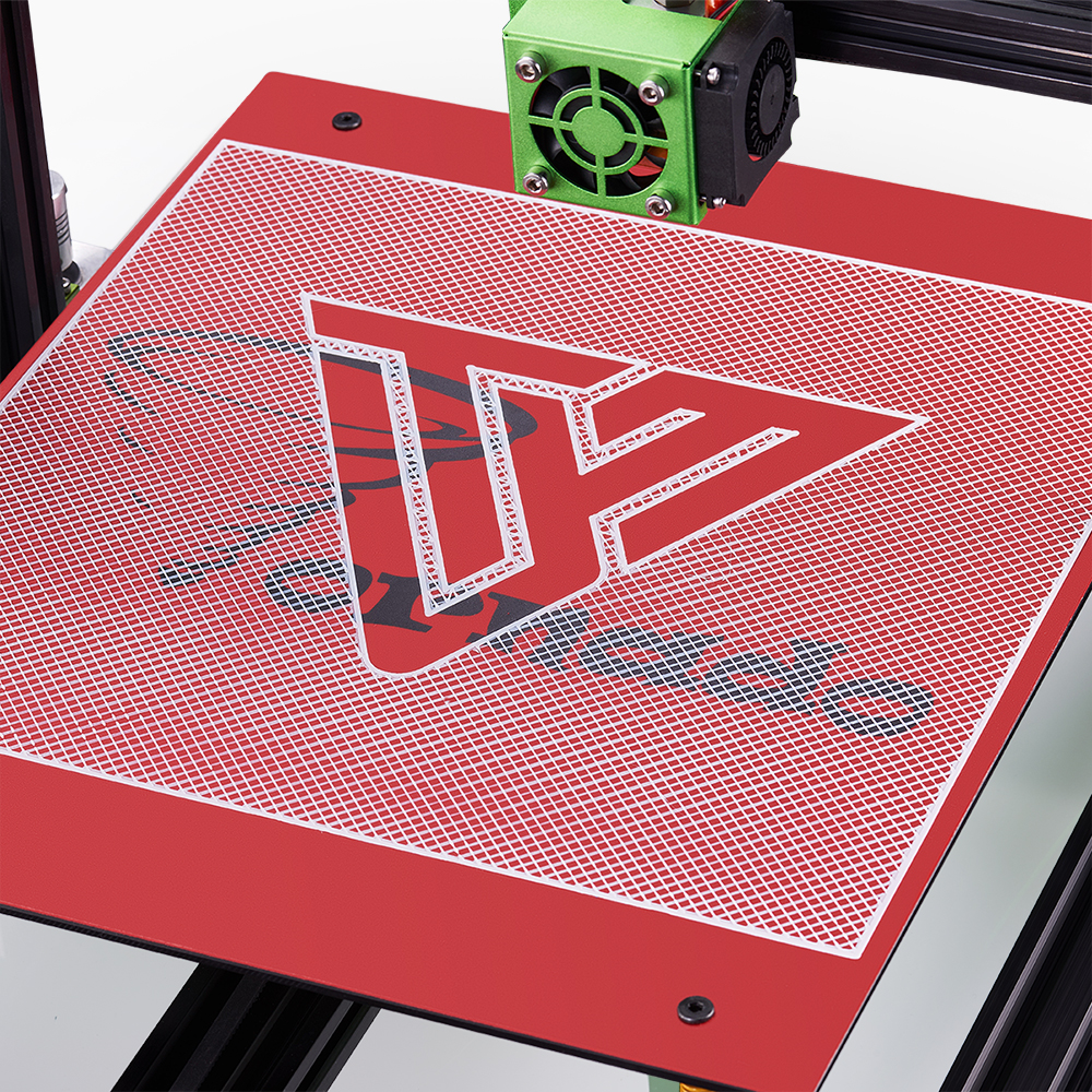 3D Printer Accessory TEVO Tornado Heating Bed Sticker 370*310mm PC Film Red/Green Color Hot Plate Sticker 3D Printer Parts tevo tornado 3d printer 95