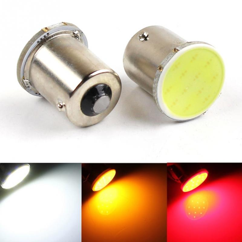 Super White COB LED 12SMD 1156 ba15s 12v bulbs RV Trailer Truck car styling Light parking Auto led Car lamp DRL