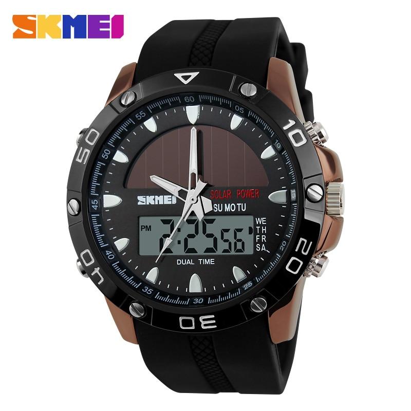 New SKMEI Brand Men Sports Watch Digital Quartz Solar Energy Watches Multifunctional Outdoor Military Wristwatches 1064