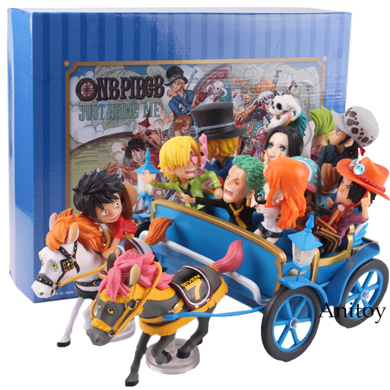 One Piece Figure 20th Anniversary Luffy Nami Zoro Sanji Chopper Ace Sabo Trafalgar Law Hancock Carriage Ver. Figure Toys Set цена