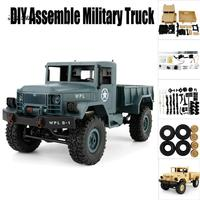 Kids WPL B 14 1 16 4WD RC DIY Assemble Military Truck Control Car Toy For