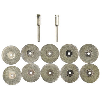 10PCS 50mm Diamond Grinding Wheel Rotary Circular Saw Blade Abrasive Diamond Disc Cutting Disc for Dremel Drill Tool + Mandrels цена 2017