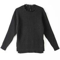Dark Burr Old Sweater Men's Wear Bottoming Shirt Black Slim Sweater Men Ropa De Hombre 2018 Winter Clothes Mens Sweaters Gothic