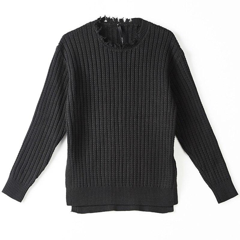 Sombre Burr vieux chandail hommes porter chemise De fond noir Slim chandail hommes Ropa De Hombre 2018 vêtements d'hiver hommes chandails gothiques