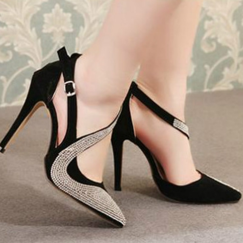 2018 Glitter Gorgeous Wedding Bridal Evening Party Crystal High Heels Women Shoes Sexy Woman Pumps Fashion Bridal Shoes women s fashion gold lace dinner evening party pumps shoes plus sizes low high heels custom made bridal wedding shoes