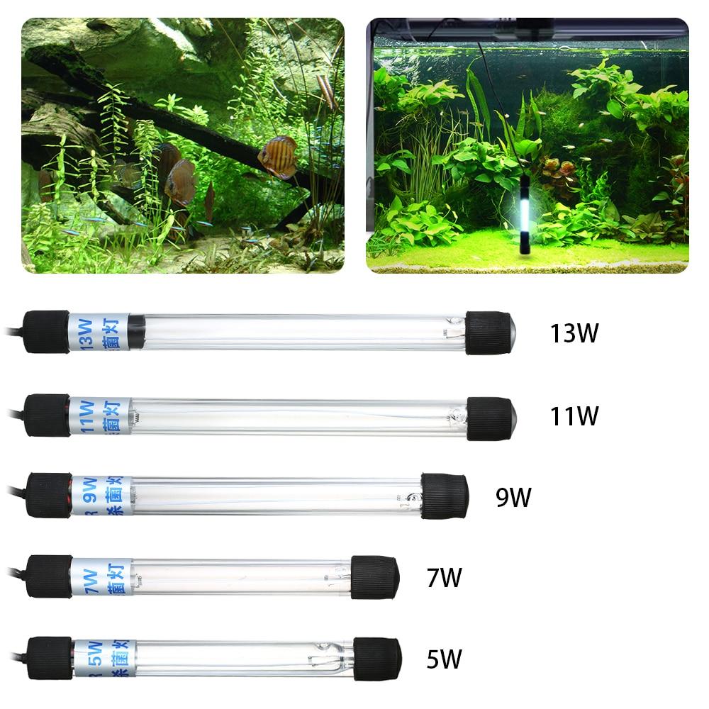 Étanche Aquarium UV De Stérilisation De Lumière Lampe 5 w/7 w/9 w/11 w/13 w submersible Ultraviolet Stérilisateur pour Fish Tank Étang Aquarium