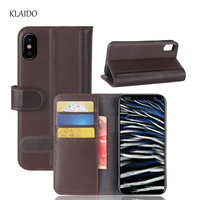 KLAIDO Genuine Cow Leather Case For IPhone 8 Real Leather Luxury Cover For Apple IPhone 8