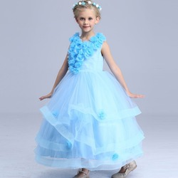Flower fairy costumes summer dress for children party princess halloween costume for kids flower girl dance.jpg 250x250