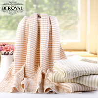 Beroyal Marke 2018 Kinder Decke-1 STÜCK Baumwolle Sechs Schichten Gaze Werfen Decken Super Weiche Cartoon Decke auf bett kinder Bettwäsche