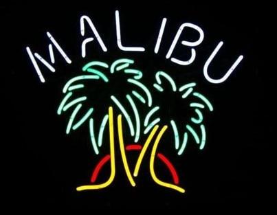 Custom Malibu Rum di Palma Albero di Vetro Luce Al Neon Della Birra BarCustom Malibu Rum di Palma Albero di Vetro Luce Al Neon Della Birra Bar