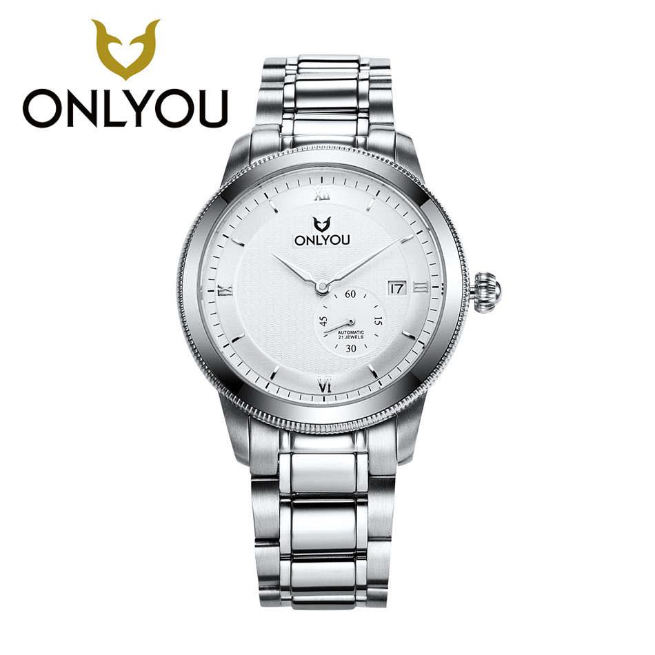 ONLYOU New Pocket Watch Design Bezel Rose Golden Watch Mens Watches Top Brand Luxury Clock Men Automatic Watches Wholesales forsining date month display rose golden case mens watches top brand luxury automatic watch clock men casual fashion clock watch