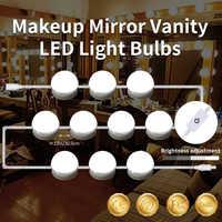 CanLing LED แต่งหน้า Vanity Light 6 10 14 หลอดไฟ 12 V ชุดสำหรับโต๊ะเครื่องแป้ง Hollywood กระจกโคมไฟหลอดไฟโซ่ Stepless Dimmable