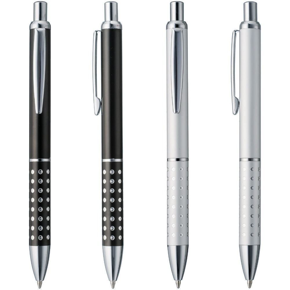 cheap new aluminium metal ball pen black ink refill smooth writing  cheap new aluminium metal ball pen black ink refill smooth writing company logo customized promotional gift personalized event in ballpoint pens from office