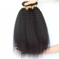 Kinky Straight Hair 3 Bundle Deals Brazilian Hair Weave Bundles Coarse Yaki Human Remy Hair Extension Hair Products Prosa