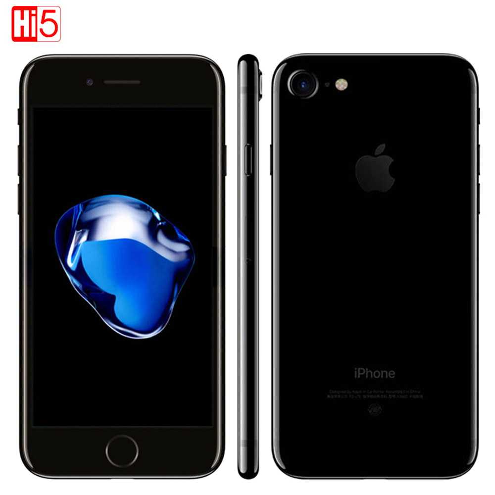 Разблокирована Apple iphone 7 IOS 11 Телефон LTE WI-FI 4,7 дисплей 12.0MP Камера Quad-Core отпечатков пальцев Смартфон iphone 7 Бесплатная доставка