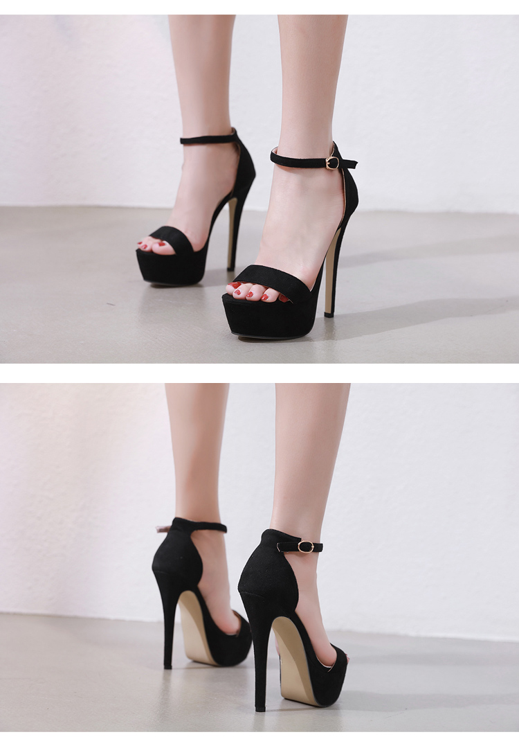 HTB1 B55ainrK1Rjy1Xcq6yeDVXaQ Aneikeh 2019 NEW 14.5CM Platform High Heels Sandals Summer Sexy Ankle Strap Open Toe Gladiator Party Dress Women Shoes Size 4-9