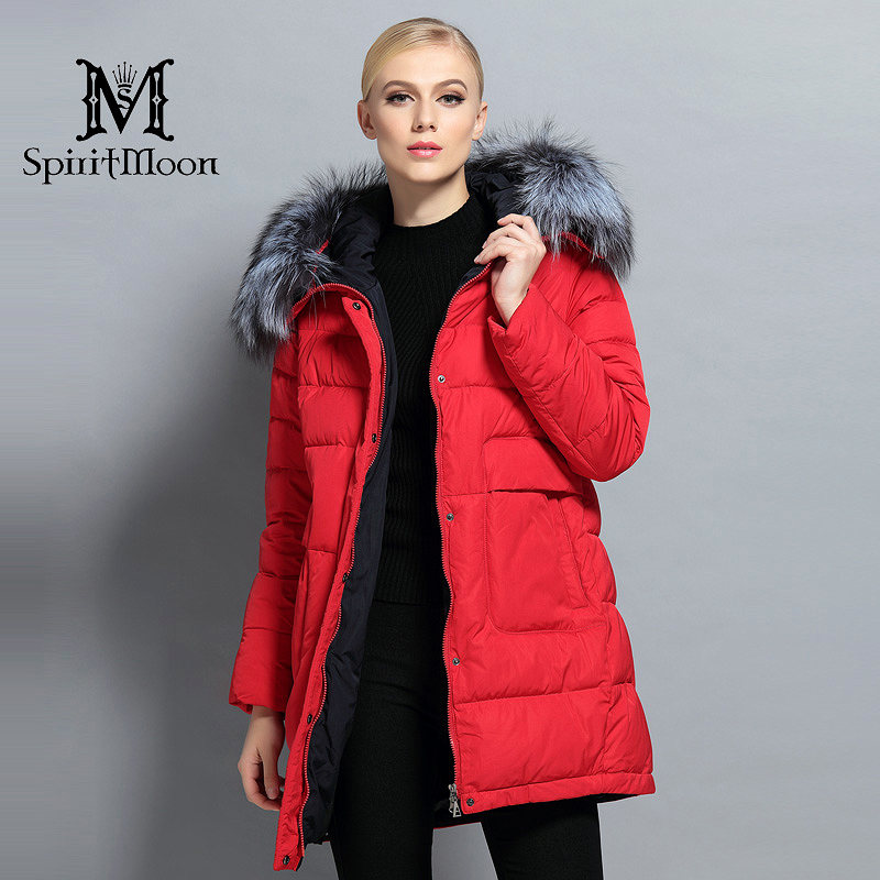 New Winter Women Down   Parka   Hooded Warm Down Jacket Female Thickening Coat With Silver Fox Fur Collar Coat Plus Size 4XL 5XL
