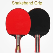 bordtennis racket gummi Log 6-stjerners rackets bordtennis Sticky Pimples-in Gummi Super Kraftig Ping Pong Racket