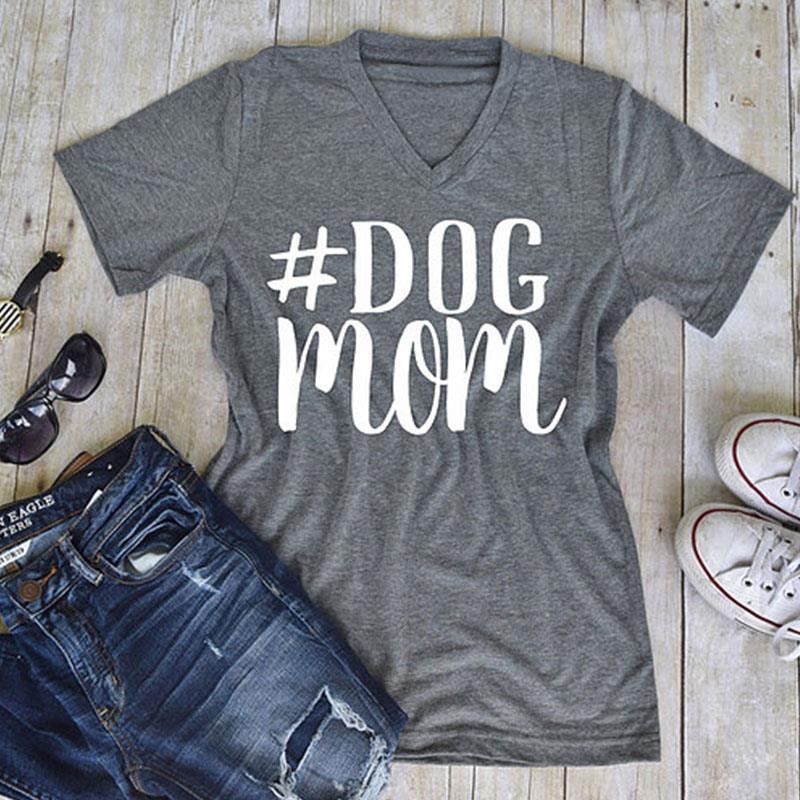 Női 3 szín S-3XL plusz méretű póló nyári feleség anyja főnök v nyak póló alkalmi rövid ujjú póló divat felső nyomtatott