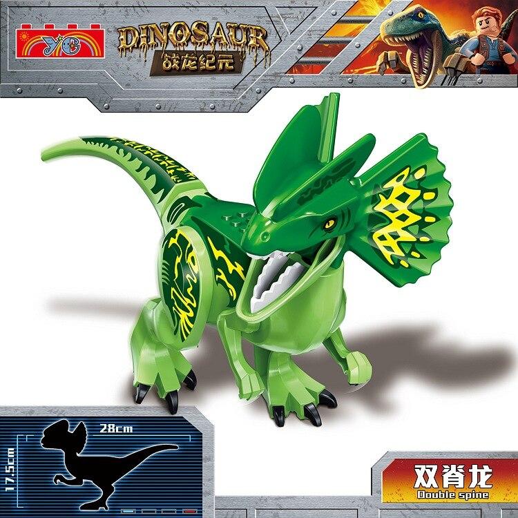 Jurassic World 2 Dinosaur Tyrannosaurus Carnivorous Building Blocks Dinosaur Action Figure Bricks Dinosaur Toys Gift in Blocks from Toys Hobbies