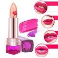 Magic Color Temperature Change Moisturizer Lips Care Bright Flower Jelly Lipstick Lip Balm Color Changing Magic Peach Jelly