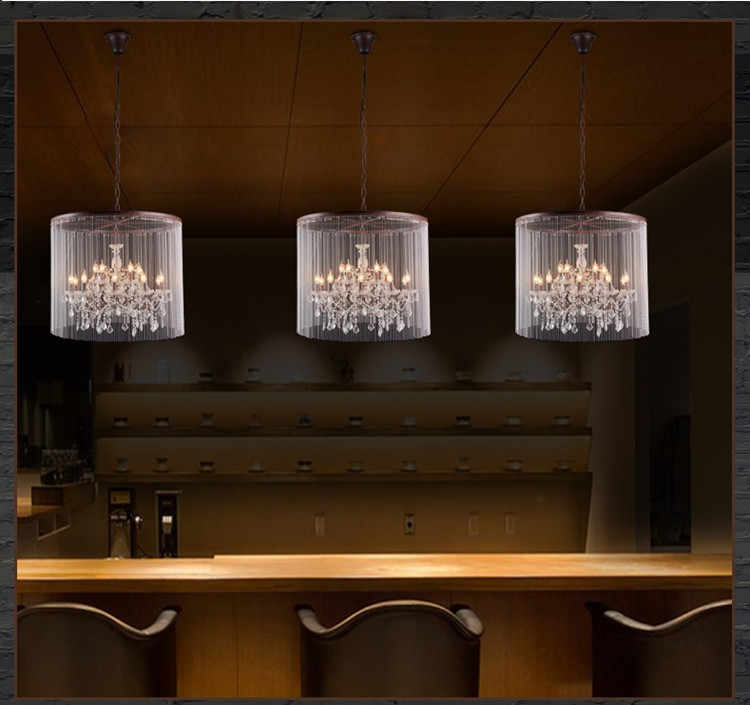 Новое Поступление Хрустальная люстра винтажная Подвесная лампа из ржавчины американский стиль люминисцентный светильник лампа для отеля проект кафе ресторан