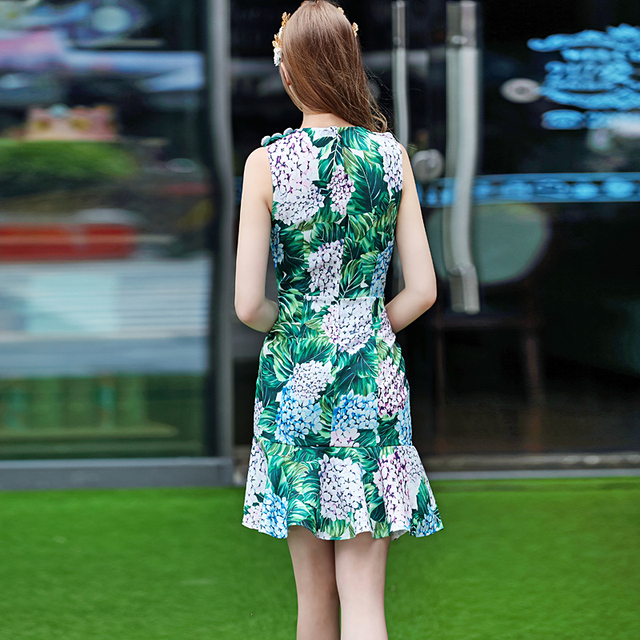 Perfect Printing Sleeveless Vest Dresses