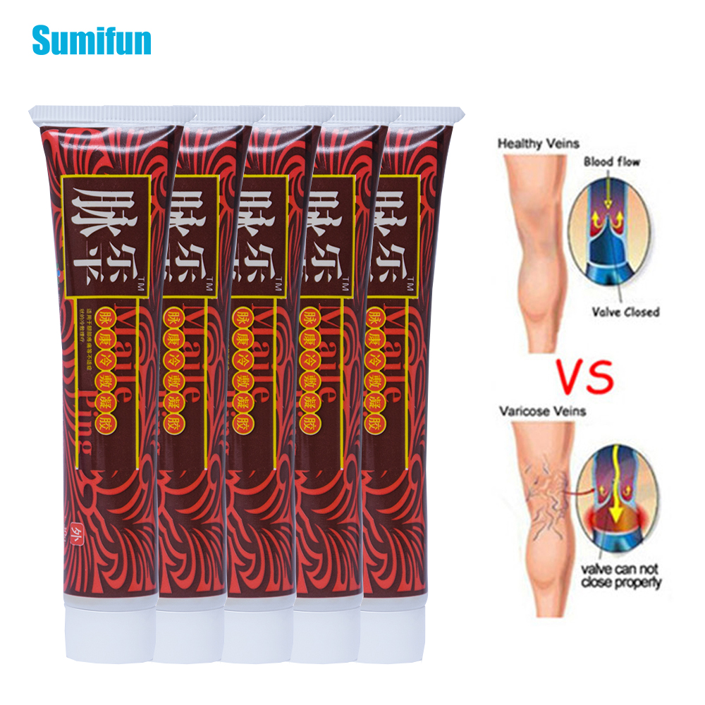 5pcs Varicose Veins Treatment Cream Ointment Vasculitis Phlebitis Spider Pain Varicosity Angiitis Removal Herbal Plaster D1787 in Patches from Beauty Health