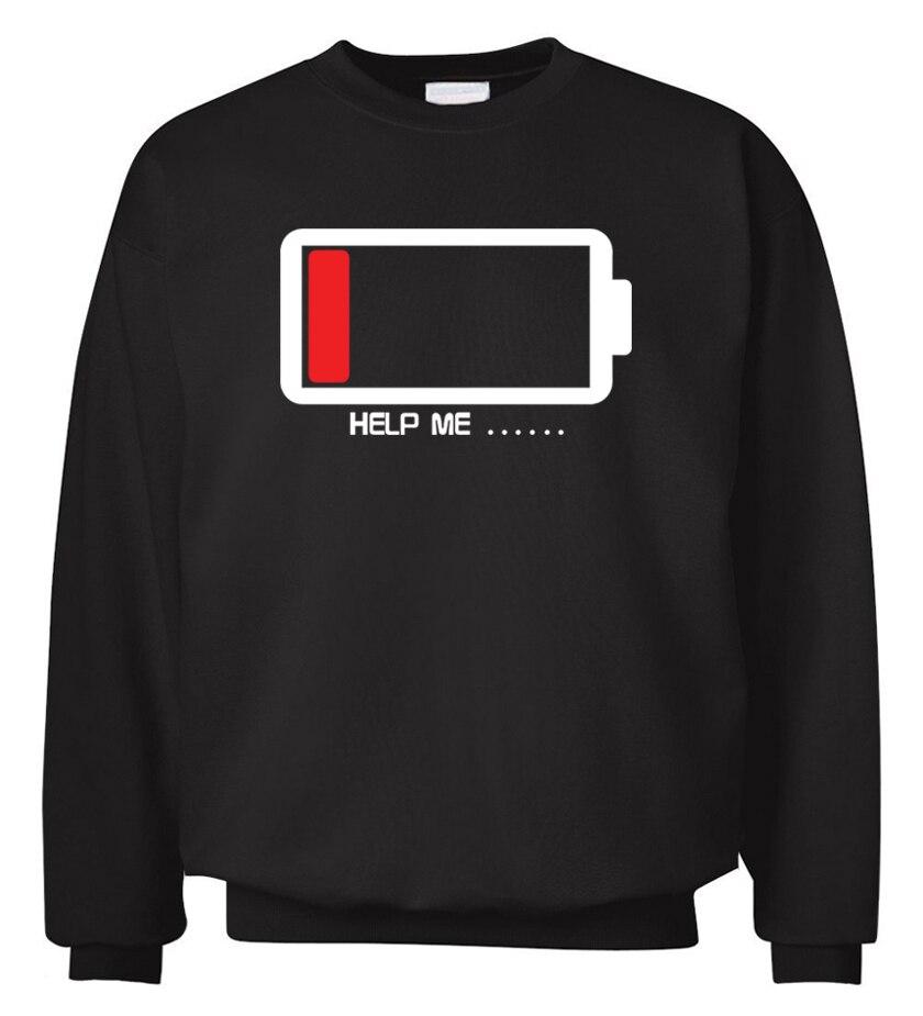 unique Battery design funny men sweatshirt hoodies 2019 spring winter casual fleece hipster man hooded hip hop streetwear