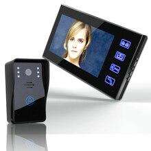 Freeship 7 pulgadas Color Video de La Puerta Sistema de Intercomunicación Del Timbre Del Teléfono + 1 Monitor de defensa personal de seguridad al aire libre cámara de la puerta de intercomunicación