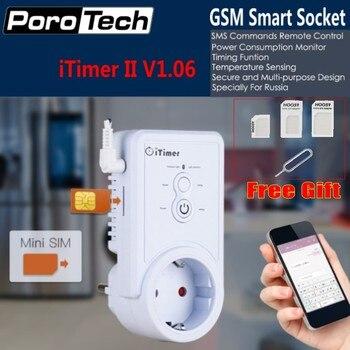 รัสเซีย/ภาษาอังกฤษ SMS Command Control GSM สมาร์ทเสียบสวิทช์ Outlet อุณหภูมิ sensor USB ซิมการ์ดสล็อต