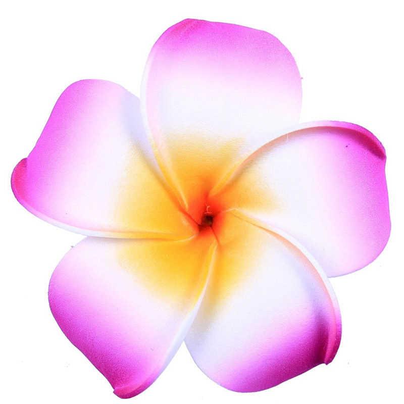 6Pcs ผู้หญิง Plumeria ดอกไม้ผมคลิปอุปกรณ์ Barrette ฮาวายงานแต่งงาน
