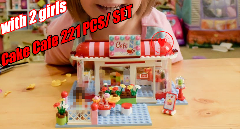Friends City Park Cafe shop model building kit Blocks Bricks Toys Girl Game Toys for children Compatible With lego kid gift set 10551 elves ragana s magic shadow castle building blocks bricks toys for children toys compatible with lego gift kid set girls