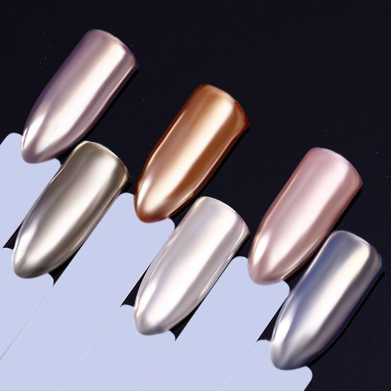 Spiegel Nagel Glitter Pulver Schimmer Chrom Champagner Silber Pigment Nail Art Uv Gel Polnischen Dekoration Maniküre Design Diy Staub Kann Wiederholt Umgeformt Werden. Nagelglitzer Nails Art & Werkzeuge