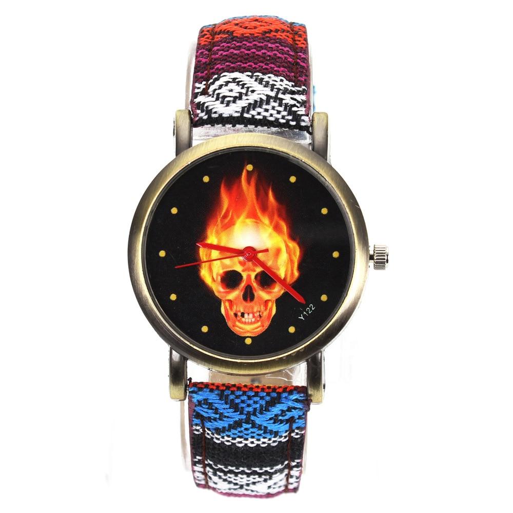 Tűz forró sötét égő koponya csontváz dial órák nők férfiak - Férfi órák - Fénykép 5