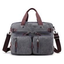 Messenger bag canvas men's vintage Backpack rucksack Shoulder canvas Laptop bag 14 13.3 13 inch for women