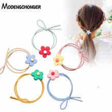 High Quality Colour Flower Elastic Hair Band Tie Star Rope Scrunchies For Girls Gum Korean Style Accessories