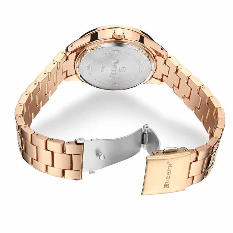 Relogio Feminino CURREN แฟชั่นผู้หญิงนาฬิกาแบรนด์หรูสุภาพสตรีนาฬิกาสแตนเลสคลาสสิกสร้อยข้อมือนาฬิกา 9007