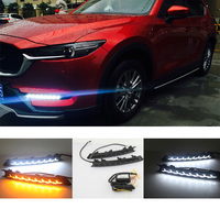 New LED Daytime Running Light Driving DRL with Turn Signal For Mazda CX5 CX 5 2017 2018