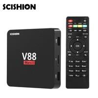 SCISHION V88 Mars II Android 6.0 Quad-core Cortex-A7 Smart TV Box 2 GB 8 GB 32Bit Wifi Set Top Box Soutien RJ45 HDMI H.264 H.265
