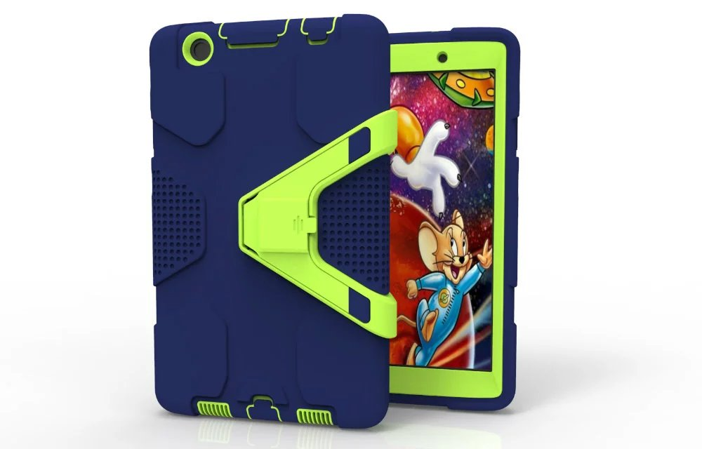 Shockproof Hybrid Heavy Armor Combo Robot Silicon Stand Shell Case For LG G PAD3 8 0 V525 V521 V520 Tablet Child Kids Case Cover in Tablets e Books Case from Computer Office